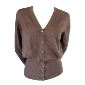 Repeat Taupe Silk/Cashmere Cardigan Size Large (42